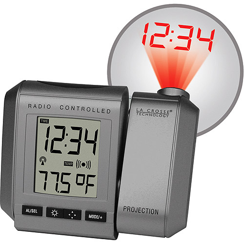 la crosse projection clock Lacrosse atomic alarm clock - 107 results from brands la crosse technology, lacrosse, products like la crosse technology atomic 471 in x 275 in temperature and moon phase gray digital alarm table clock, silver, la crosse technology atomic projection alarm clock with indoor and outdoor temperature, black, one size, la crosse technology 616-146 projection alarm w/color display.