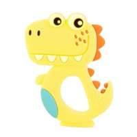 LYUMO 2PCS Baby Silicone Teether Cartoon Dinosaur Baby Molars Bite Teething Chewing Toys,Teether, Teething Chew Toys