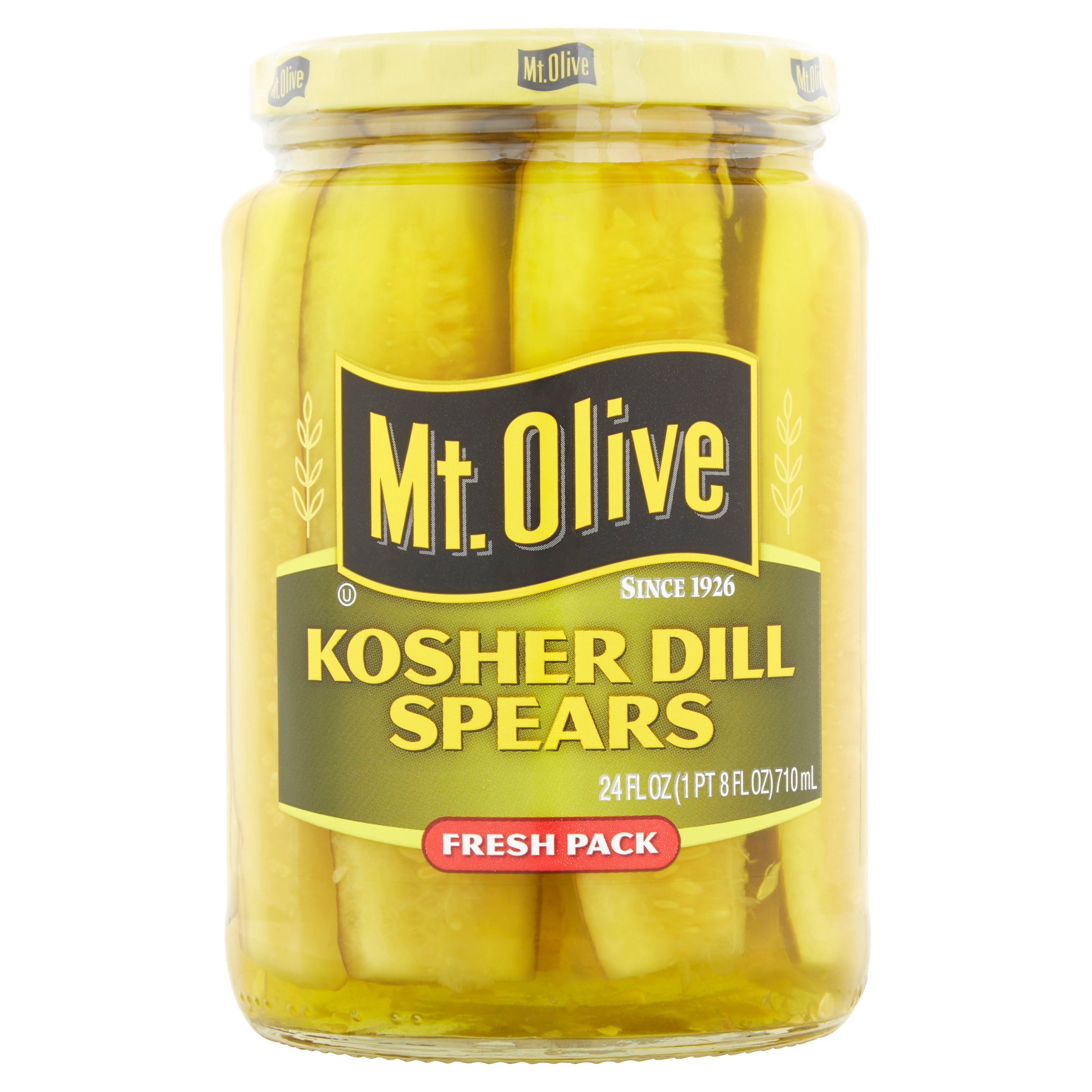 Mt. Olive Kosher Dill Spears Fresh Pack Pickles 24 fl. oz. Jar