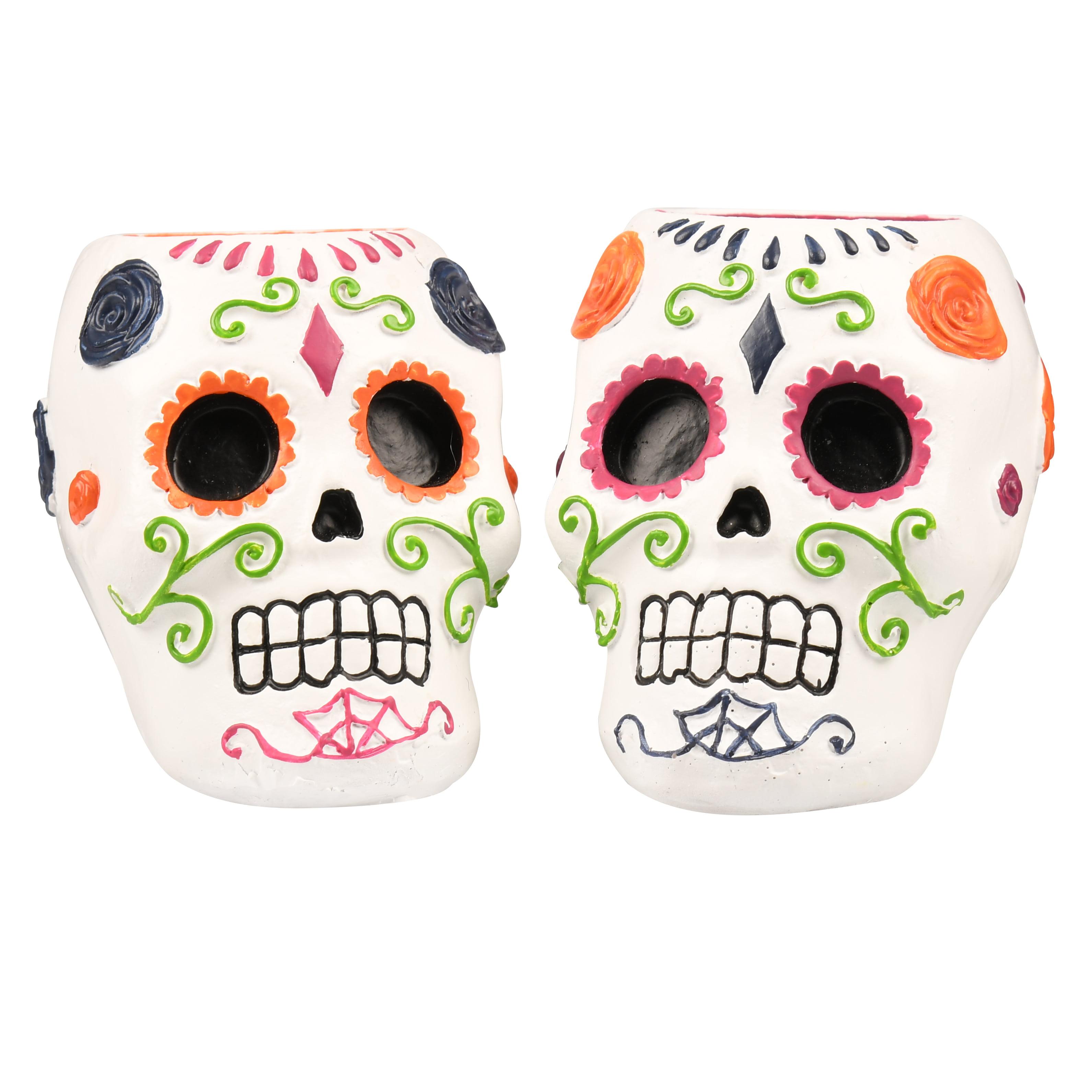 Halloween Skull Candle Holder Walmart Com Walmart Com