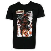 Deadpool Here Comes Deadpool Black T-Shirt-Small