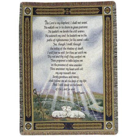 Manual Woodworkers & Weavers 23rd Psalm Tapestry Cotton - 23rd Psalm Throw