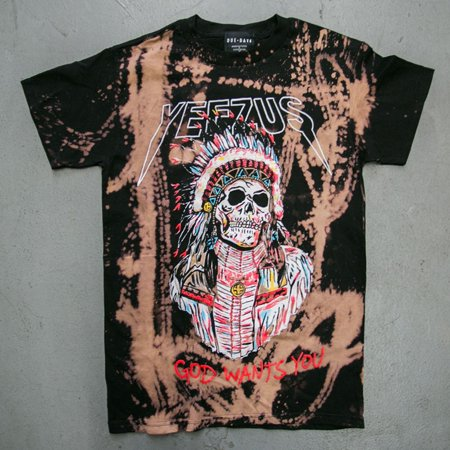 Yeezus God Wants You Bleached Vintage t shirt Kanye West Yeezy](Kanye West Batman Halloween)