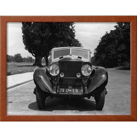 Frontal View of Rolls-Royce Automobile Framed Print Wall Art ...