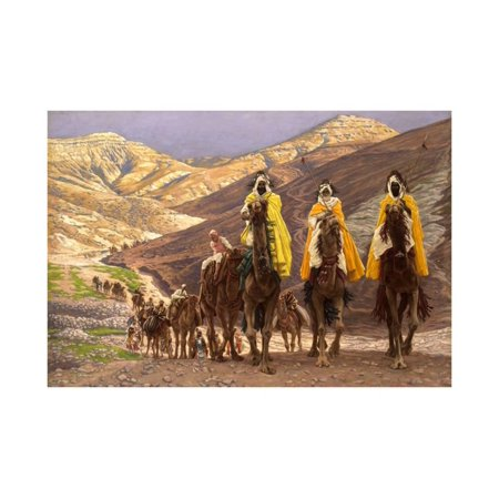 Journey of the Magi, C.1894 Three Wise Men Nativity Bible Story Painting Print Wall Art By James Jacques Joseph Tissot ()