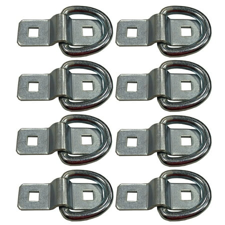 "3/8"" Eight Chain Rope Tie Down Bolt on D Rings For Trailer Flatbed Zinc 5000 lbs"