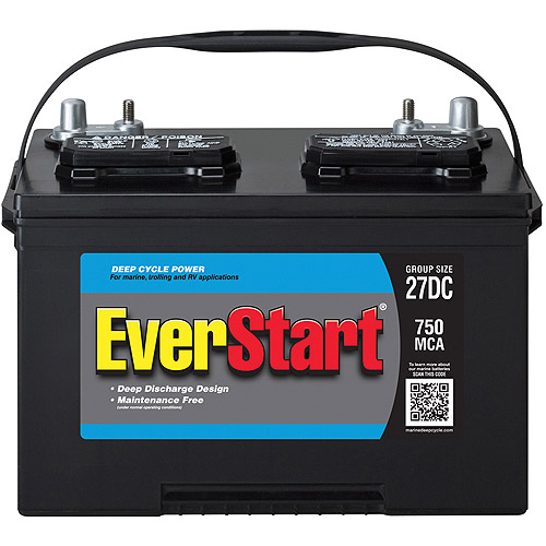 EverStart Lead Acid Marine/RV Battery, Group 27DC - Best ...