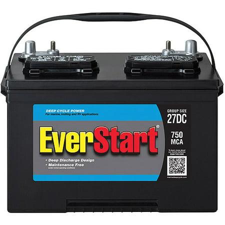 Everstart Lead Acid Marine Rv Battery Group 27dc