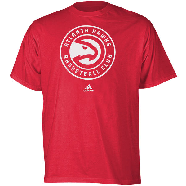 Atlanta Hawks New Logo Adidas Primary logo NBA Men T Shirt Red XL