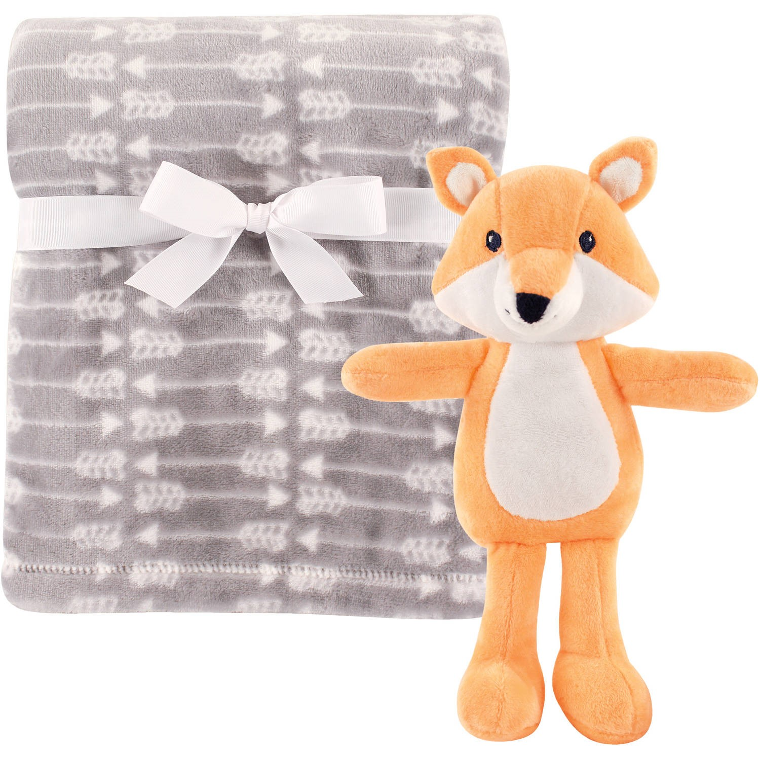 Hudson Baby Boy and Girl Plush Blanket and Toy - Fox