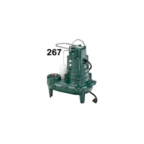 Zoeller 267-0020 1/2 HP Automatic Submersible Sewage and Effluent Pump N/A
