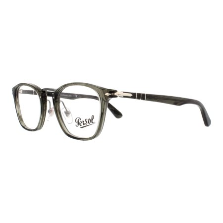 4592157554b3d PERSOL Eyeglasses PO 3109V 1020 Striped Grey 47MM - Walmart.com