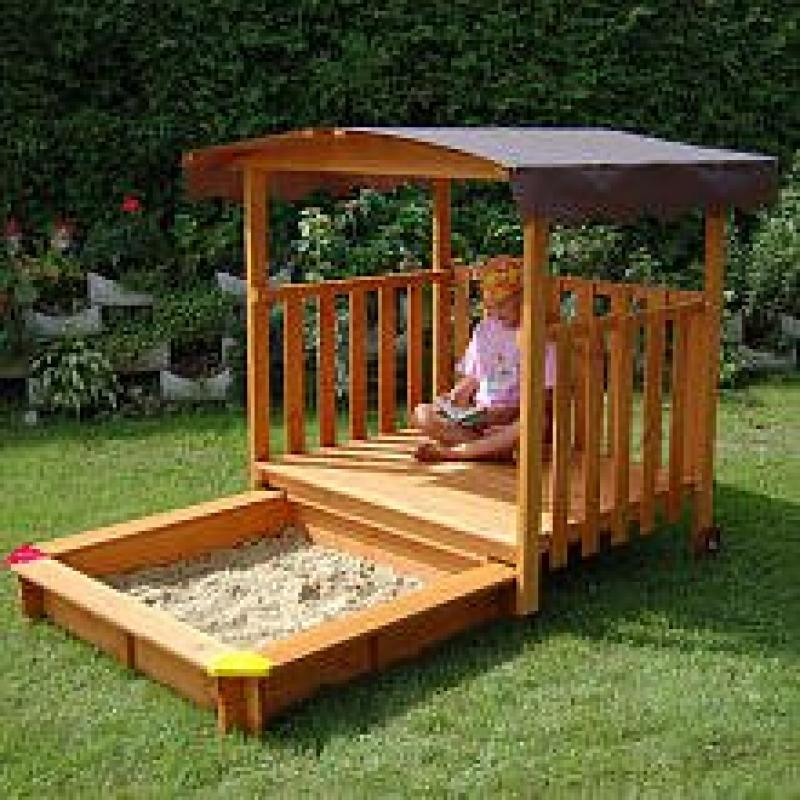 Exaco Playhouse with Sandbox Sand Box by