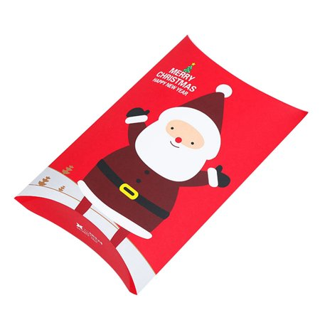 KABOER Christmas Gift Box Pillow Shape Candy Cookies Box Gift Bag Charm  Pretty ()