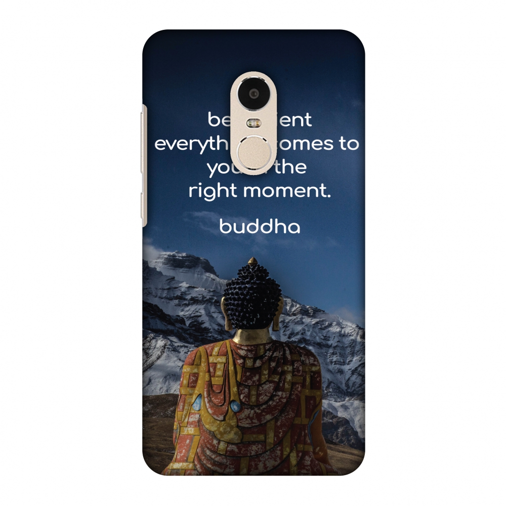 Xiaomi Redmi Note 4 Case, Premium Handcrafted Printed Designer Hard Snap On Case Back Cover for Xiaomi Redmi Note 4 - Buddha Quotes 6