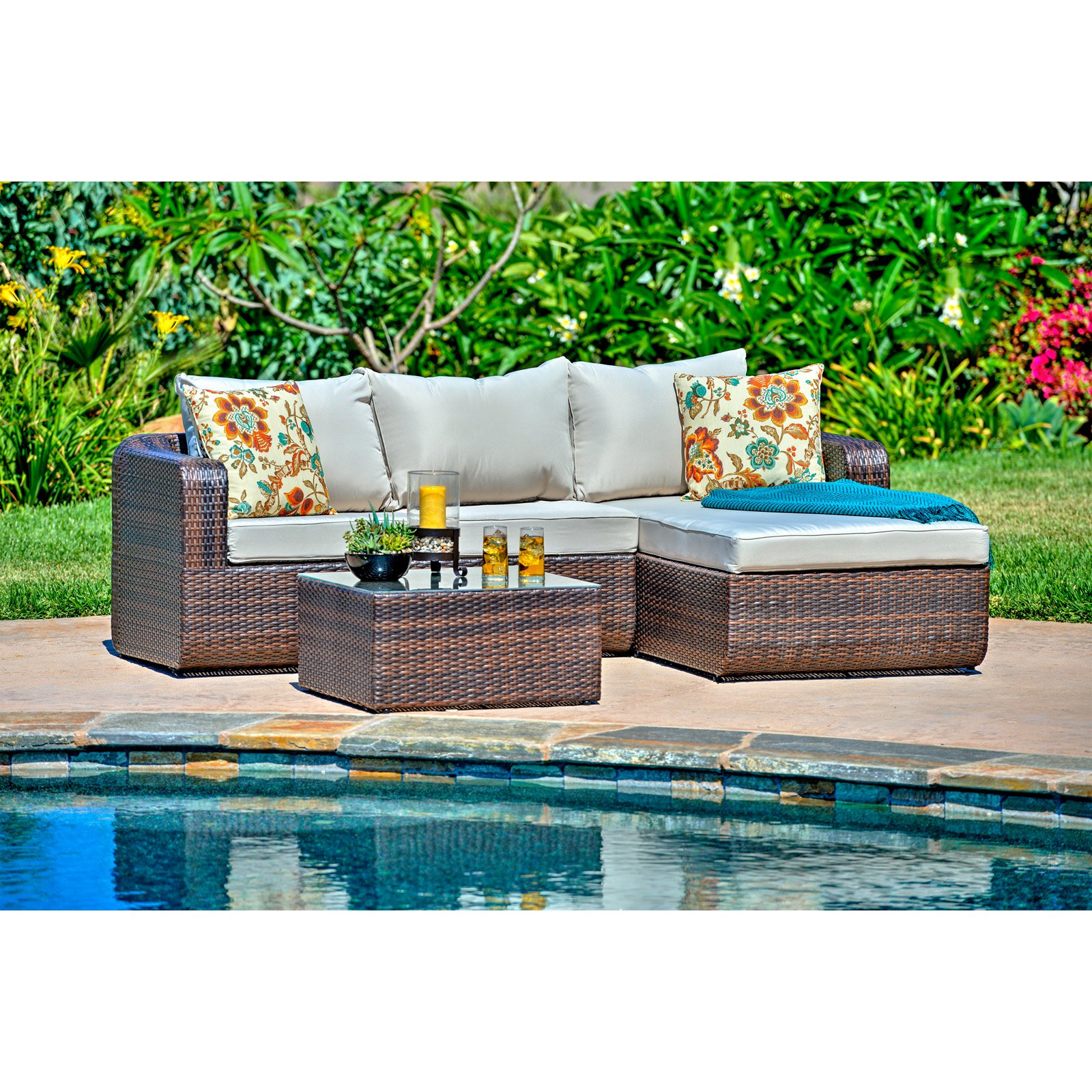 Thy-Hom Luies Wicker 3 Piece All-Weather Patio Conversation Set by Wicker Furniture