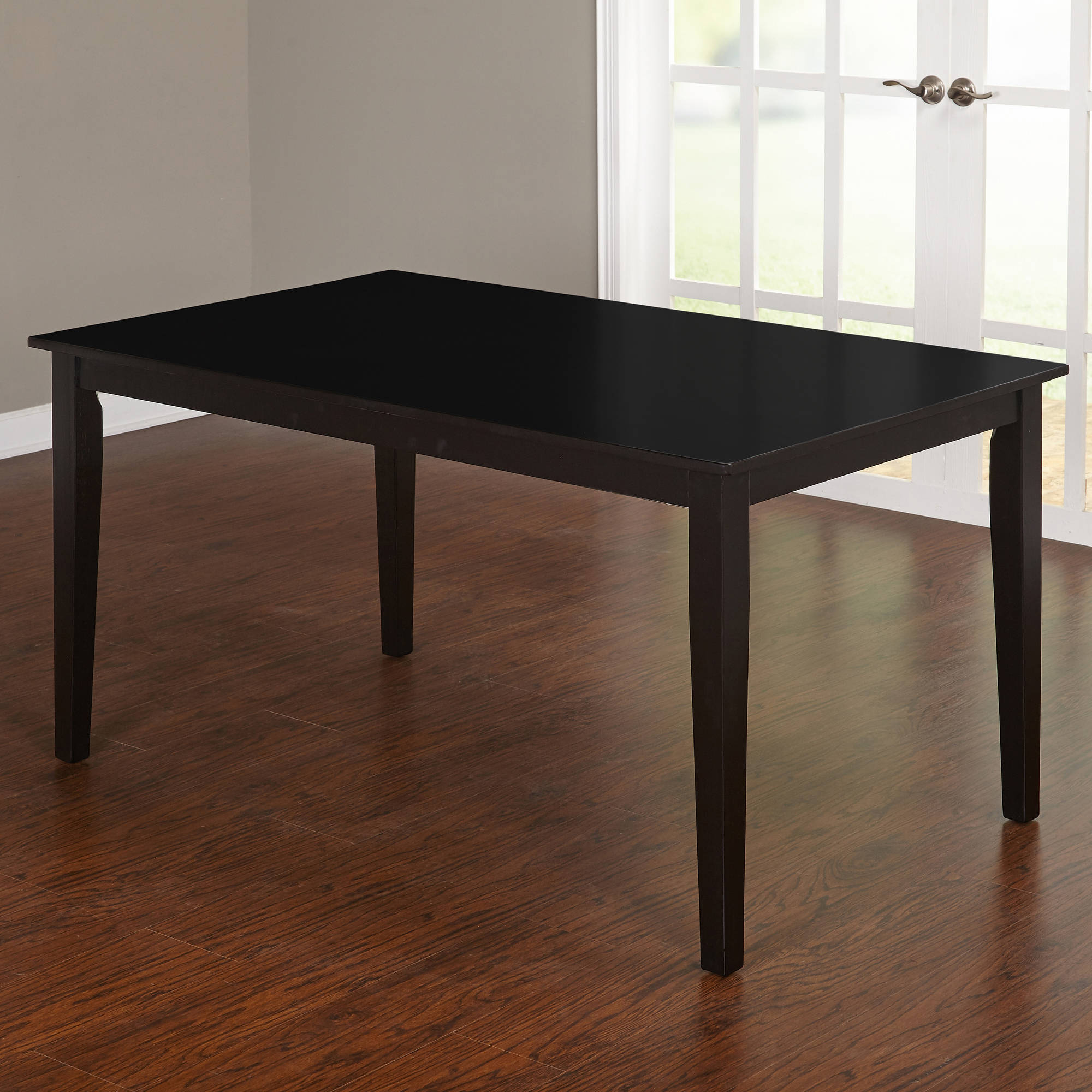 Contemporary Large Dining Table, Black by