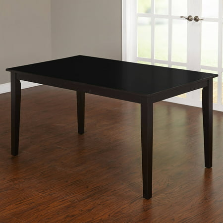 Contemporary large dining table black for Big modern dining table