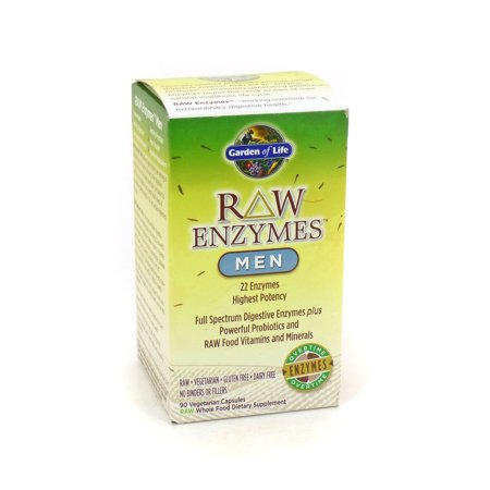 Enzymes Raw pour homme Garden of Life - 90 Capsules