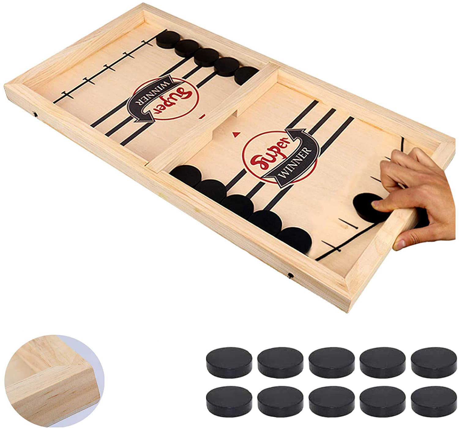 Fast Sling Puck Game Hockey Game Tablet Board Game Family Fun Games Child Toy CA