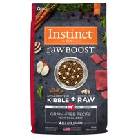 Instinct Raw Boost Grain-Free Recipe with Real Beef Natural Dry Dog Food by Nature's Variety, 20 lb