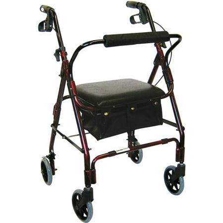 - WMU 477772 32''- 38'' Mimi Lite Flame Red Rollator Walker