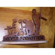 Fine Crafts 1226MIL Wooden Never forgotten soldier military display