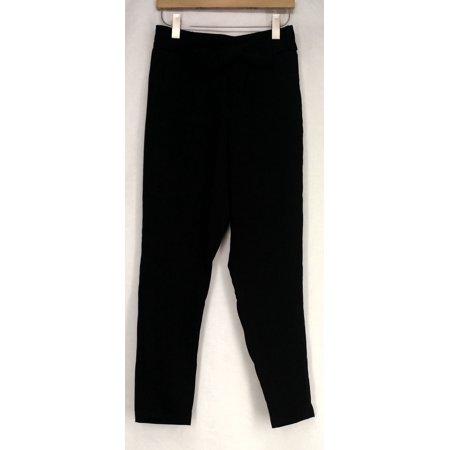 Vanessa Williams Pants S Stretch Woven Elastic Waist Tie Pants Black A428154 (Vanessa Williams Halloween)