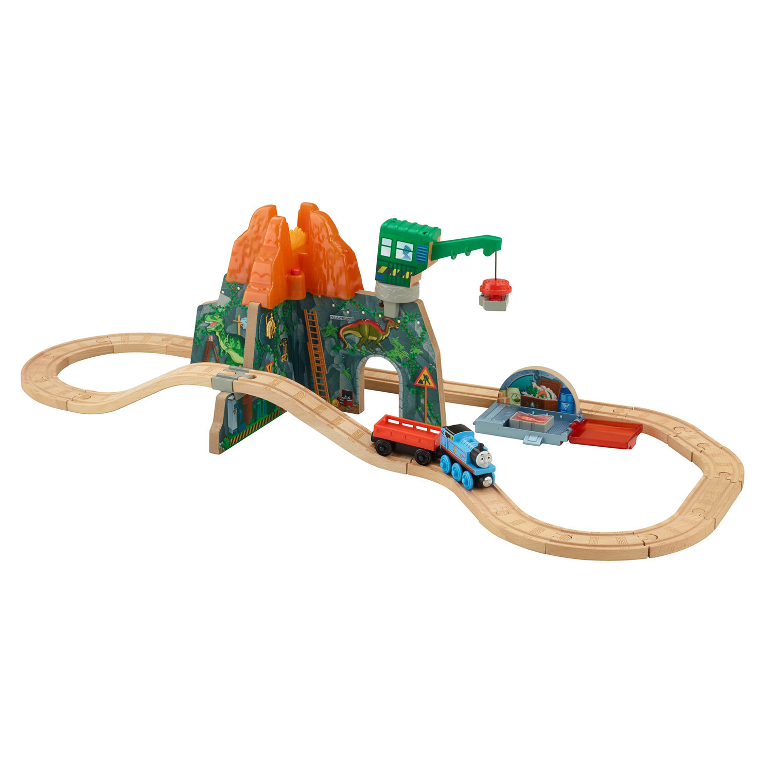 Fisher Price Thomas and Friends Wooden Tracks Volcano Park Deluxe Train Set