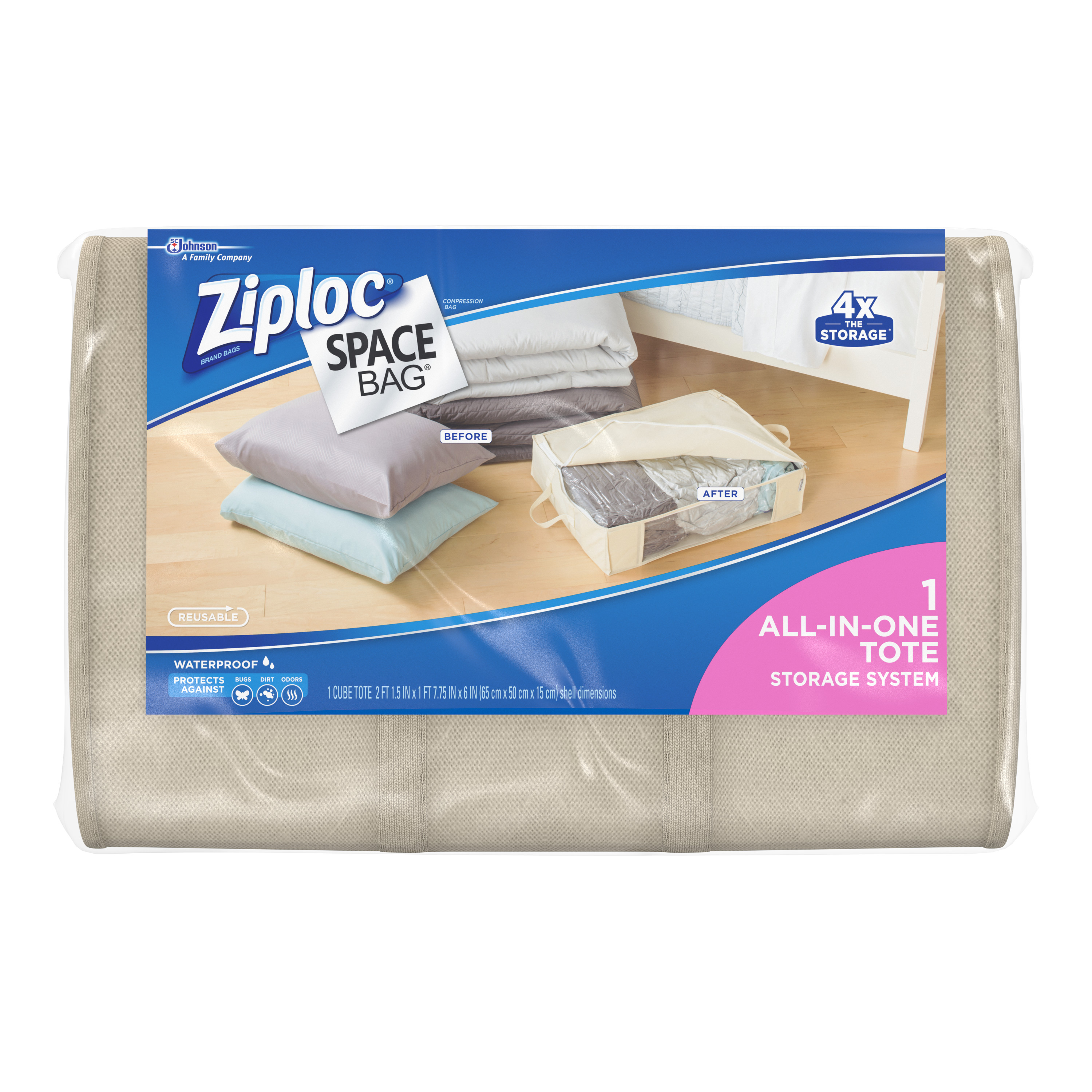Ziploc Space Bag Underbed Tote