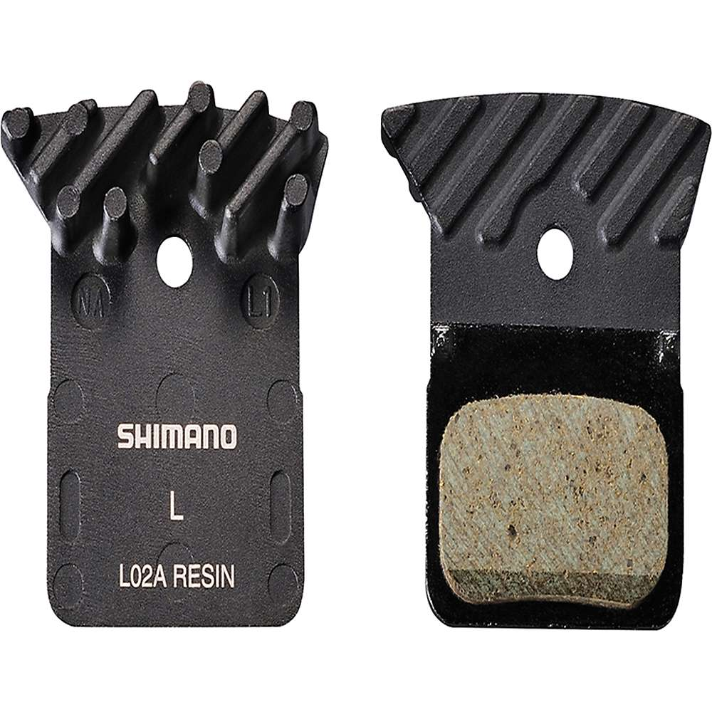 Shimano L02A Resin Disc Pads with Cooling Fins