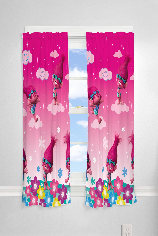 Trolls Kids Bedroom Curtain Panel Set Set Of 2 63 Inch L Walmart Com Walmart Com