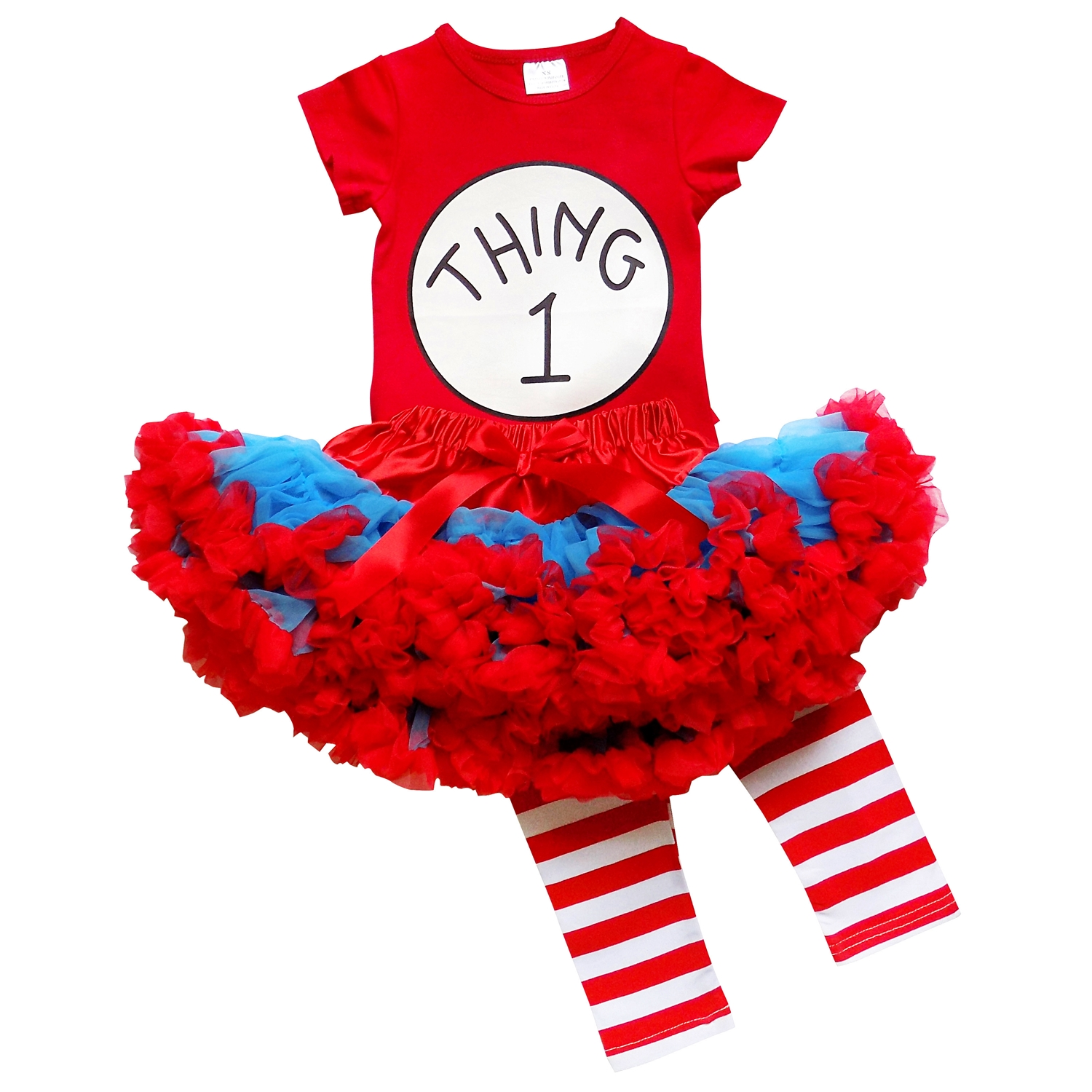 So Sydney Toddler or Girl Deluxe Thing 1 or 2 Tutu 3 Pc Outfit Costume - Top Pants Tutu Skirtu0026nbsp; Pettiskirt - Walmart.com  sc 1 st  Walmart & So Sydney Toddler or Girl Deluxe Thing 1 or 2 Tutu 3 Pc Outfit ...