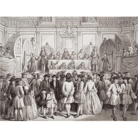 Posterazzi DPI1860091LARGE Drawing A Lottery In Guildhall London 1739 Engraved by J.J. Crew From A Rare Poster Print, Large - 34 x 26 - image 1 of 1