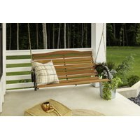 """Jack Post CG-05Z 48"""" High Back Wood Porch Swing with Chain"""