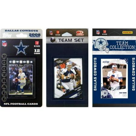 C & I Collectibles COWBOYS3TS NFL Dallas Cowboys 3 diff-rentes -quipes Trading Card licence Fixe - image 1 de 1