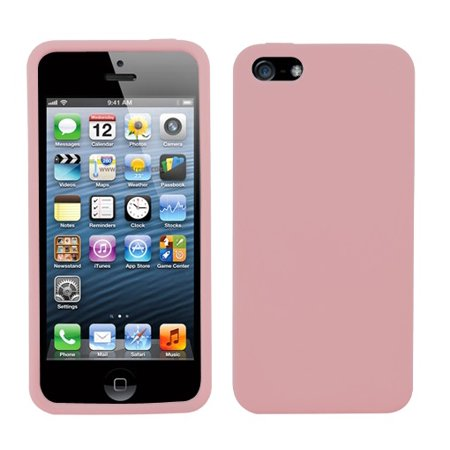 - Solid Rubberized Silicone Gummy Skin Cover Case for iphone 5 or 5S