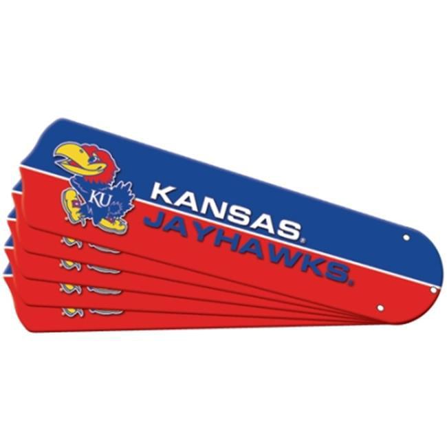 Ceiling Fan Designers 7992-KAN New NCAA KANSAS JAYHAWKS 42 in. Ceiling Fan Blade Set