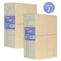 Pack of 2 Adams 2 Sided Employee Time Card Clocking In Card Punch Card - 500 Count (Total 1000 Count)