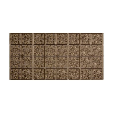 Fasade Traditional 1 2ft x 4ft Vinyl Glue Up Ceiling Tile in Argent Bronze