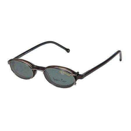 Hip Pack Spring (New Smartclip 900 Mens/Womens Designer Full-Rim Brown Hip Polarized Clip-on Lenses Frame Demo Lenses 46-20-140 Sunglass Lens Clip-Ons Spring Hinges Eyeglasses/Eyewear )