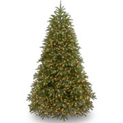 """National Tree Pre-Lit 7-1/2' """"Feel-Real"""" Jersey Fraser Medium Fir Hinged Artificial Christmas Tree with 1000 Clear Lights"""