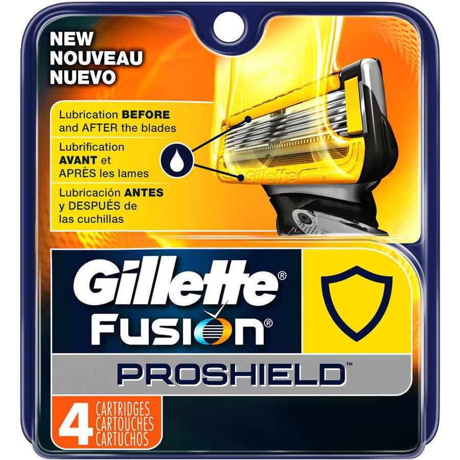 Gillette Fusion ProShield Men's Razor Blade Refills, 4 count