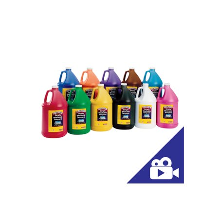 Colorations Simply Washable Tempera Paint - Gallon, Set of 11 Colors (Item # SWTGAL) (Washable Tempera Paint)