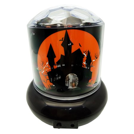 Halloween Haunted House Rotating Projector Light