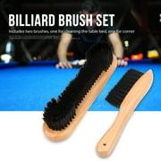 2pcs Billiards Pool Table Rail Brush Set Cleaning Tools Accessory,Billiard Table Brush, Pool Table Brush