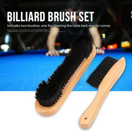 2pcs Billiards Pool Table Rail Brush Set Cleaning Tools Accessory,Billiard Table Brush, Pool Table