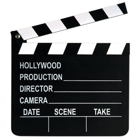Club Pack of 12 Movie Set Clapboards with Chalk Hollywood Themed Party Decorations - Hollywood Part