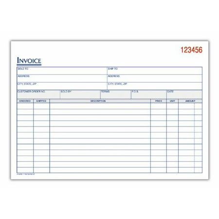 Professional Invoice - Adams(TM) 3-Part Carbonless Invoice Book, 8 7/16in. x 5 9/16in., White/Canary/Pink, 50 Sets