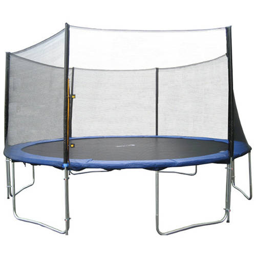 ExacMe 13-Foot Trampoline, with Safety Enclosure, Blue (Box 1 of 3)
